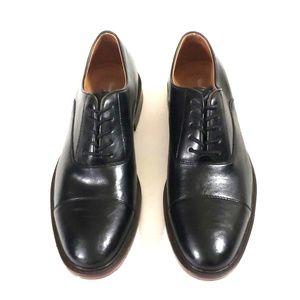 Shoes - NEW Mens Black Loafers Sz 10 Gloss Lace Up Shoes